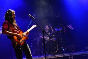 Die Rock in der Region-Gewinner From Willows live auf der Bühne vom Haus der Jugend beim Finale